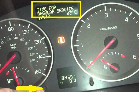 How To Service Light Reset In Volvo V50 S40 C30 C70