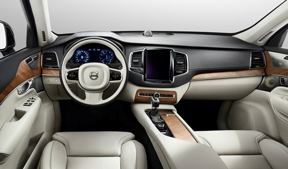 2015 Volvo XC90 interior dash view, dashboard view, front view, center console view