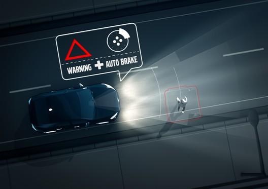 XC90 - Pedestrian detection in darkness