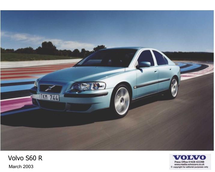 2003 Volvo S60R V70R AWD Press Kit