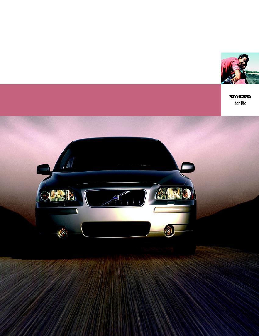 Volvo S60 2005 USA Sales Brochure Catalogue