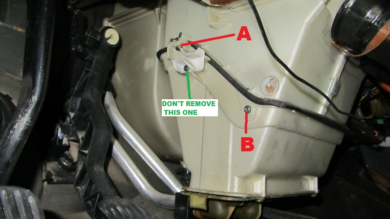 volvo 850, s70, v70, c70 how to replace the heater coreusing a t25 undo the heater unit pipes flange screw before you undo this, be sure to put something under the flange to catch any coolant that runs out