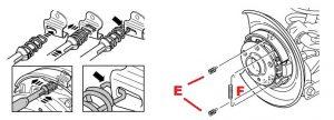 rear brake shoes instal diagram