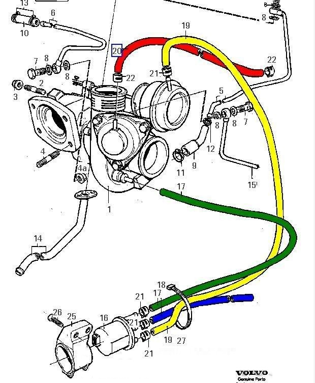 Volvo 850 Turbo Tcv Vacuum Hoses Diagram