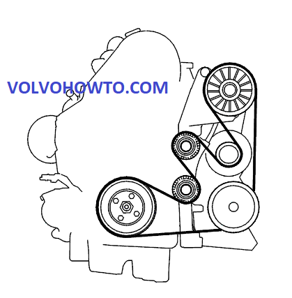 Volvo-S60-S80-V70-XC70-XC90–2001-to-2006–D5-2.4D-Auxiliary-Serpentine-Drive-Belt-Routing-Diagram